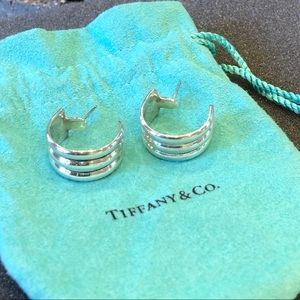 Tiffany&Co Sterling Silver 925 Mexico Hoop Earring